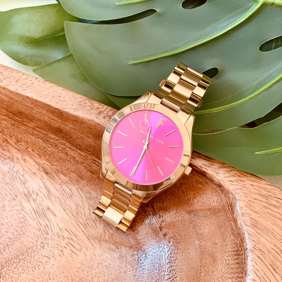 Michael Kors Pink Dial with Gold Women's Watch